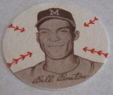 1954 Preferred Products ( Douglas Felts ) Bill Burton Milwaukee Braves Patch