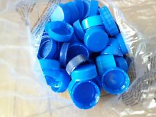 100 Plastic Bottle Tops - Blue - Arts / Crafts