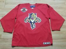 Vintage CCM Center Ice Florida Panthers Jersey Hockey Red Sewn Size Large