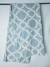 Pottery Barn Kendra Linen/Cotton Trellis Shower Curtain - Teal/White