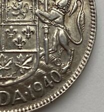 CANADA 1940 50 CENTS KING GEORGE VI  .800 SILVER  C23