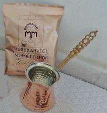 Hand Hammered Copper Turkish Coffee Pot Ibrik Kettle Jazzva Briki Cezve & Coffee