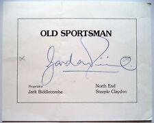 Gordon Pirie Olympique 1956 5000 m médaille d'argent vainqueur Original encre autographe