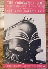 1939 THE CORONATION SCOT Great Britains Luxury Train NY World's Fair Brochure
