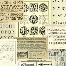 80 Vintage books Lettering Monograms Ciphers Alphabets Embroidery {.pdf on DVD}