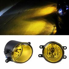 Pair H11 Yellow Fog Lights Driving Lamp LH RH Side For Toyota Camry Yaris Lexus
