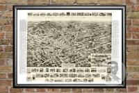 Old Map of Hicksville, NY from 1925 - Vintage New York Art, Historic Decor