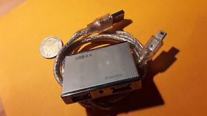 Mini HUB USB 2 Hama 4 ports