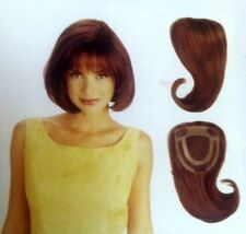 "Louis Ferre TOP HAIRPIECE-CLOSURE 3001Dark-Rust RemyHuman Hair-5""X4.5""X9""L"
