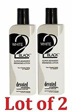 Lot of 2 Devoted Creations White 2 TO Black Advanced Bronzer Tanning Lotion