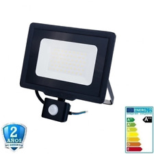 Foco Proyector LED 50W SMD 4000lm 120º IP65 Negro con Sensor