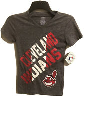 Cleveland Indians Girl's Short Cap Sleeve V Neck  T Shirt Size M 10/12