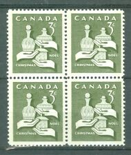 New Listing1965 Canada Christmas 3¢ Blk of 4 Uni#443
