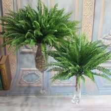 Green Large Plastic Lifelike Artificial Fern Foliage Bush Plants Indoor/outdoor
