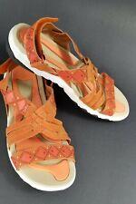 Ryka Women's Sandals 9.5 W Adjustable Back Orange Summer Comfort Slip on Shoes