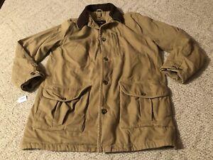 Eddie Bauer Heavy Barn Coat Chore Jacket Men's Large Flannel Lined Canvas
