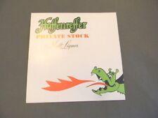 Vintage Haffenreffer Malt Liquor Beer Dragon Price Sign Poster Narragansett