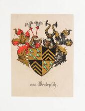 1843 von Berlepsch Lithographie-Wappen