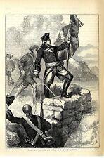 WASHINGTON PLANTING THE BRITISH FLAG AT FORT DUQUESNE * HISTORICAL MEMORABILIA