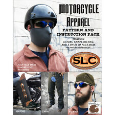 SLC Motorcycle Apparel Pattern Pack: Motorcycle Chaps, Gators, Face Mask, Do-rag
