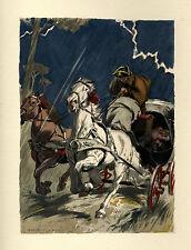Auguste LEROUX . Casanova - l' amour en voiture sous l'orage ! TRÈS BEAU !!!!!!