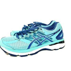 ASICS GT-2000 4 Womens Turquoise Indigo Slate Blue Running Shoe Size 6 Width B