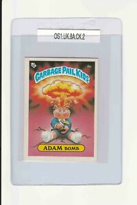 Garbage Pail Kids Adam Bomb 8a UK MINI GPK 1985 Original Series 1 vintage card