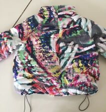 086d63e6 ESCADA Women Puffy Down Jacket Multicolor Reversible Size 44 NWOT