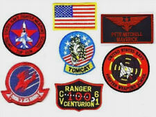 FANCY DRESS HALLOWEEN COSTUME TOP GUN MAVERICK NAME TAG FLIGHT SUIT 7-PATCH SET