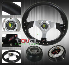 92-95 CIVIC EG6 HATCH STEERING WHEEL KIT- QUICK RELEASE + HUB ADAPTER + HORN BUT