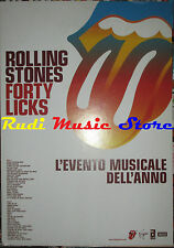CARTONATO PROMO ROLLING STONES Forty licks 48 X 68 cd dvd vhs lp live