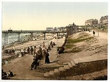 4 Victorian Views Hunstanton Lighthouse Pier Cliffs Promenade Repro Old Photos