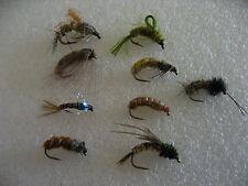 9 ninfas y larvas de trico, anzuelos C/S muerte. Pesca a mosca. FLY FISHING (16)