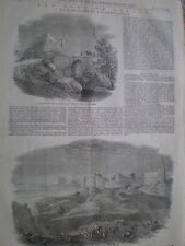 The Fort of Attock Punjab India Pakistan 1849 old print my ref T