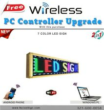 LED Sign Programmable Scrolling Message - 7 colors - 15'' x 65'' Wireless