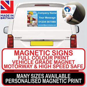 1x MAGNETIC SIGN MOTORWAY GRADE VEHICLE, VAN, CAR FULL COLOUR PRINTED STICKER