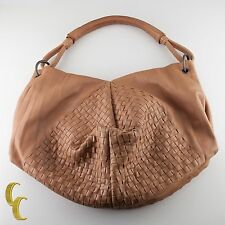 Bottega Veneta Leather Intrecciato Nappa Aquilone Fortune Cookie Hobo Bag Purse