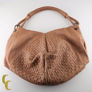 Bottega Veneta Leather Intrecciato Nappa Aquilone Fortune Cookie Hobo Bag Purse