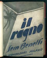 BENELLI SEM IL RAGNO COMMEDIA IN TRE ATTI MONDADORI 1935 PRIMA EDIZIONE LEGATURA