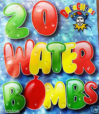 Water Bombs Water Balloons Mixed Colour Pack Fun Water Bomb Booms 2 x 20 New