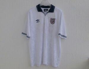 ENGLAND 1990/1992 FOOTBALL SHIRT UMBRO GASCOIGNE #19 RETRO