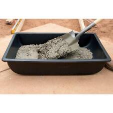 Heavy Duty Mixing Tub Black Concrete Pan Pvc Mortar Bucket Tool Mixer 2 Pack New