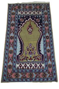 Fein Handgeknüpfter Perser Orientteppich Buchara Jomut carpet rug 110X60cm