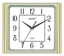 Amms Silent Sweep Tradiational Battery Operated Gold Home Office Clock  720