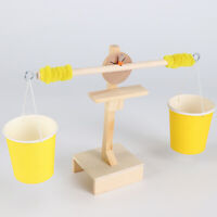 AU_ GT- Kids DIY Montessori Educational Small Wooden Balance Scale Experiment To