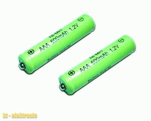 2 Stück AAA MICRO 1,2V 600mAh NiMh Solar Akku Ersatz für Solarleuchte Solarlampe
