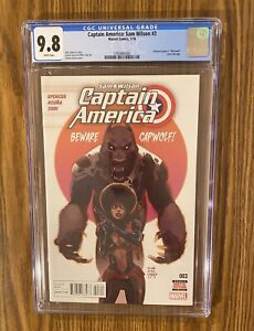Captain America: Sam Wilson #3 (Marvel 2016). CGC 9.8. 1st Joaquin Torres. 🔥 🔑