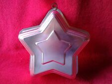 """Small Aluminum Star Jello Mold Light Copper Color with Hanging Hook  8"""" Diameter"""