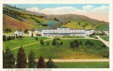 Postcard Wyoming Yellowstone Park Mammoth Hotel 1930s-40s Unused