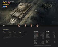 World of tanks, WOT EU, NA, ASIA Unicum tank T95E2 like bonus code.
